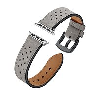 Eternico Apple Watch 42mm / 44mm Leather Band, szürke - Szíj