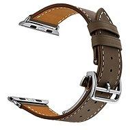 Eternico Apple Watch 38mm / 40mm Leather Strap, sötétbarna - Tartozék
