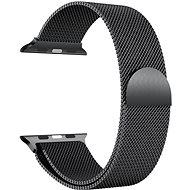 Eternico 42mm / 44mm / 45mm Milanese fekete Apple Watch-hoz - Szíj