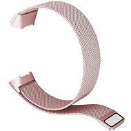 Eternico Fitbit Charge 3 / 4 Steel - rózsaszín (Large) - Szíj