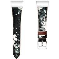 Eternico Fitbit Charge 3 Genuine Leather, szürke-virágos (Small) - Tartozék