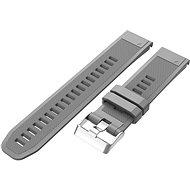 Eternico Garmin Quick Release 22 Silicone Band Silicone Silver Buckle szürke - Szíj