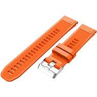 Eternico Garmin Quick Release 22 Silicone Band Silicone Silver Buckle narancssárga - Szíj
