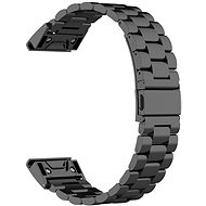 Eternico Garmin 22 Stainless Steel Band Black Steel Buckle fekete - Szíj
