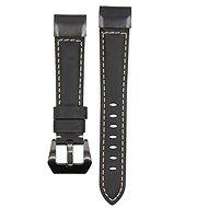 Eternico Garmin Quick Release 22 Genuine Leather fekete - Szíj