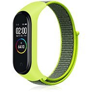 Eternico Mi Band 3 / 4 Nylon lime - Szíj