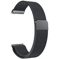 Eternico Quick Release 22 Milanese Band fekete Samsung Galaxy Watch-hoz - Szíj