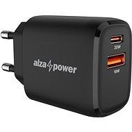 AlzaPower A100 Fast Charge 20W fekete - Hálózati adapter