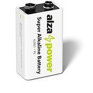 Eldobható elem AlzaPower Super Alkaline 6LR61 (9V) 1 db, eco-dobozban