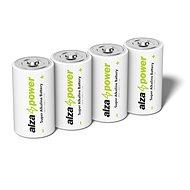 AlzaPower Super Alkaline LR14 (C) 4 db eco-dobozban - Eldobható elem