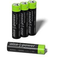 AlzaPower Rechargeable HR03 (AAA) 1000 mAh 4 db öko dobozban - Akkumulátor