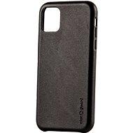 AlzaGuard Premium Leather Case for iPhone 11 fekete - Telefon hátlap
