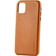 AlzaGuard Premium  Leather Case iPhone 11 készülékhez barna - Mobiltelefon hátlap