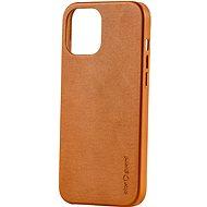 AlzaGuard Premium  Leather Case iPhone 12/12 Pro készülékhez barna - Mobiltelefon hátlap