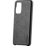 AlzaGuard Premium Leather Case Samsung Galaxy A52 / A52 5G / A52s fekete - Telefon hátlap