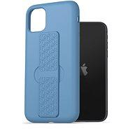 AlzaGuard Liquid Silicon Case with Stand iPhone 11 kék - Telefon hátlap