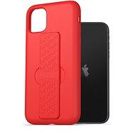 AlzaGuard Liquid Silicon Case with Stand iPhone 11 piros - Telefon hátlap
