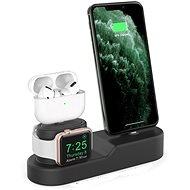 AhaStyle állvány az Airpodokhoz, iPhone és iWatch fekete - Állvány