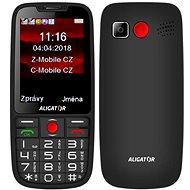 ALIGATOR A890 GPS Senior fekete - Mobiltelefon