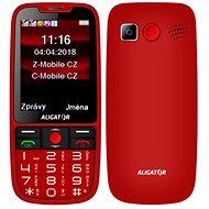 ALIGATOR A890 GPS Senior piros - Mobiltelefon