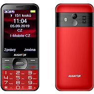 ALIGATOR A900 GPS Senior piros - Mobiltelefon