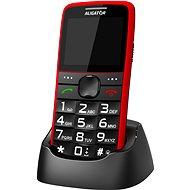 Aligator A675 Senior piros - Mobiltelefon
