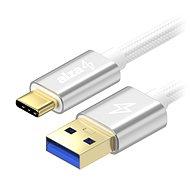 AlzaPower AluCore USB-C 3.2 Gen 1, 0,5m Silver - Adatkábel