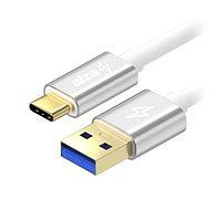 AlzaPower AluCore USB-C 3.2 Gen 1, 2m Silver - Adatkábel