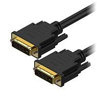 AlzaPower DVI-D - DVI-D Dual Link összekötő kábel, 1 m - Videokábel