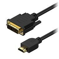 AlzaPower DVI-D - HDMI Single Link összekötő kábel, 2 m - Videokábel
