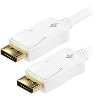 AlzaPower DisplayPort-ról (M) DisplayPort-ra (M), csatlkaozókábel, 1,5m, fehér - Videokábel