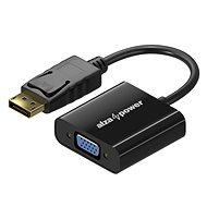 AlzaPower DisplayPort (M) - VGA (F) 0.1m - Átalakító