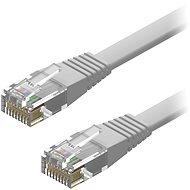 AlzaPower Patch CAT6 UTP Flat 2 m szürke - Hálózati kábel
