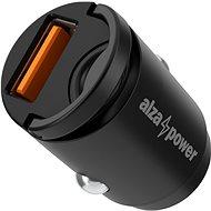 AlzaPower Car Charger M110 Fast Charge Mini fekete - Autós töltő