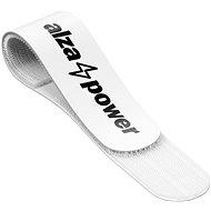 Kábelrendező AlzaPower Wall VelcroStrap+ 50pcs fehér - Organizér kabelů