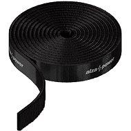 Kábelrendező AlzaPower VelcroStrap + Roll 1 m fekete - Organizér kabelů