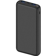 Powerbank AlzaPower Carbon 20000mAh Fast Charge + PD3.0 Black - Powerbanka