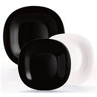 Luminarc CARINE étkészlet, 18 db, fehér/fekete