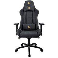 AROZZI VERONA Signature Soft Fabric fekete, arany logóval - Gamer szék