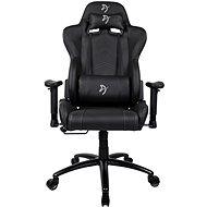 AROZZI INIZIO Black PU fekete, szürke logóval - Gamer szék