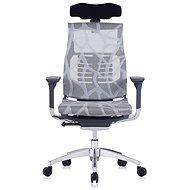 ANTARES Pofit - sötétszürke váz, ezüst háló rajzolással - Irodai szék