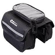 COMPASS kétrekeszes biciklis táska + telefontartó - Táska
