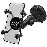 A RAM Mounts a  X-Grip univerzális mobiltelefon-tartó teljes készletét tartalmazza tapadókoronggal üveghez