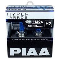 PIAA Hyper Arros 5000K H7 + 120% ragyogó fehér fény, 5000K színhőmérséklet, 2 db - Autóizzó