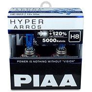 PIAA Hyper Arros 5000K H8 + 120% ragyogó fehér fény, 5000K színhőmérséklet, 2 db - Autóizzó