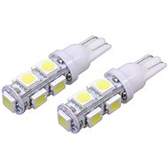 COMPASS izzó, 9 SUPER LED, 12V T10 Fehér 2db - Autóizzó