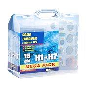 COMPASS  MEGA H1+H7+biztosítékok, pót készlet 12V - Izzókészlet