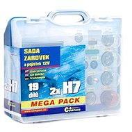 COMPASS MEGA H7+H7+biztosíték, tartalék szett 12V - Izzókészlet