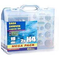 COMPASS  MEGA H4+H4+ biztosítékok, tartalék szett 12V - Izzókészlet