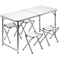 Cattara DOUBLE szürke + 4x szék - Dohányzó asztal